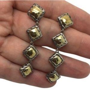John Hardy 22k sterling silver Palu earrings